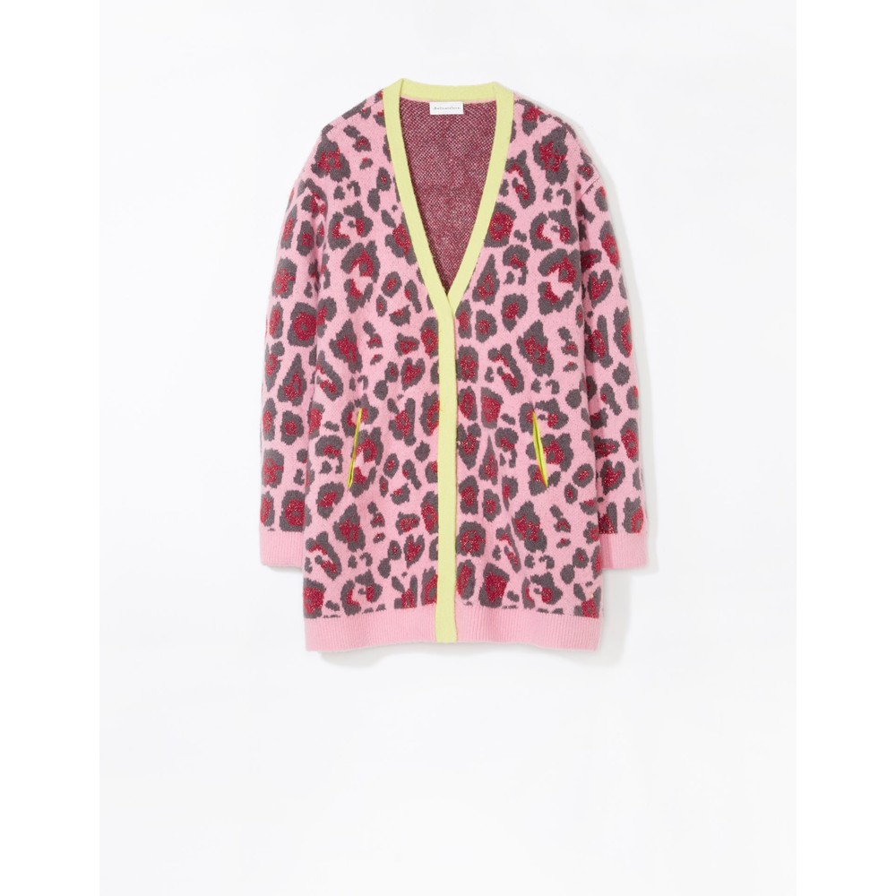 Delicate Love Cia Leopard Cardigan Tea Rose