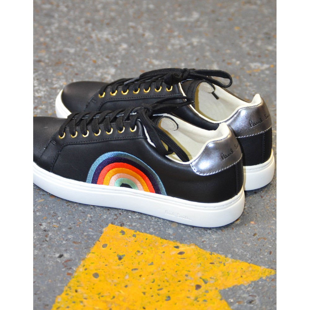 Paul Smith Shoes Lapin Rainbow Trainer Black/Multi