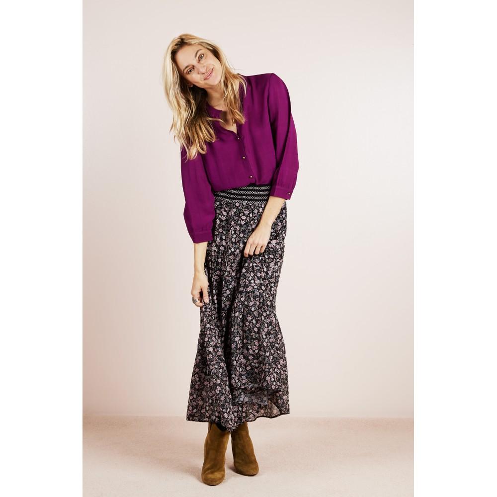 Lollys Laundry Bonny Patterned Skirt Black/Pink Floral