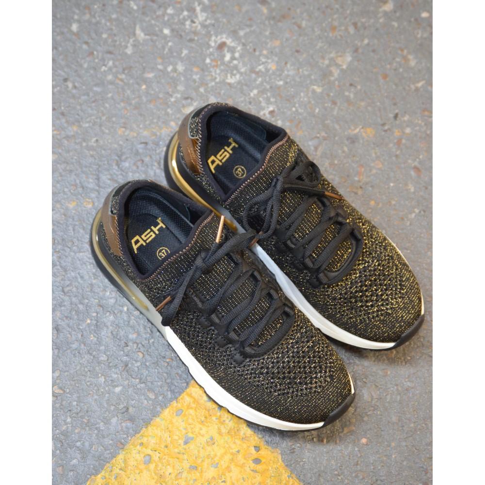 Ash Krush Bis Lurex Knit Trainer Black/Gold