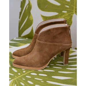 Herne V Cut Zip Ankle Boot Tan