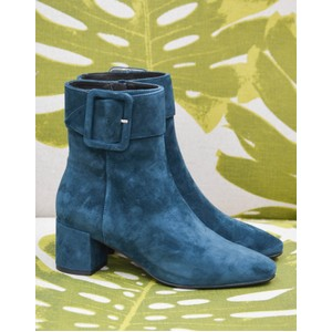 Lola Cruz Side Buckle Boot Petrol