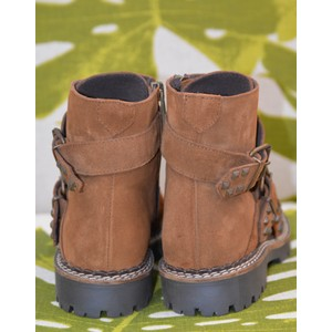 Shoe The Bear Hailey Studded Buckles Boot Brown