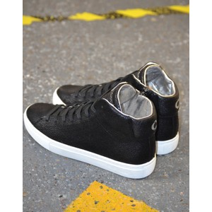 Infinity Side Zip Hi Top Black