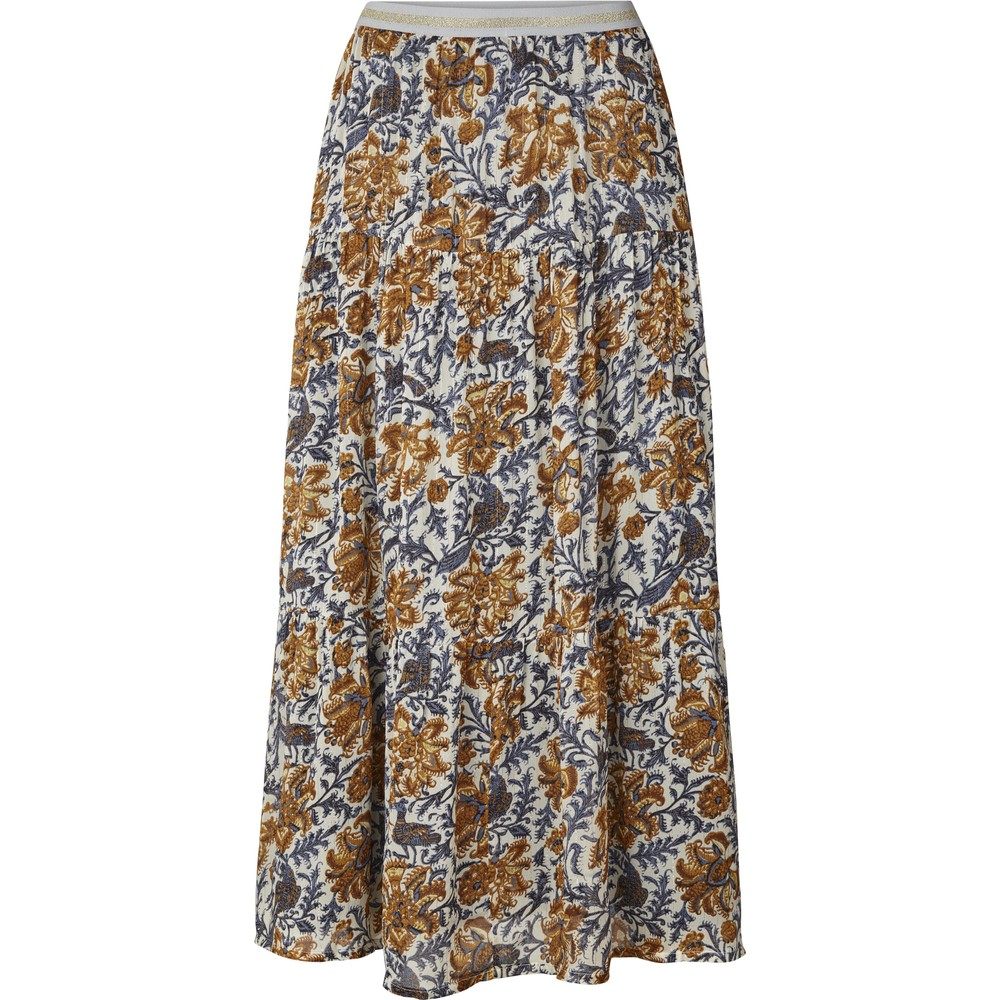 Lollys Laundry Bonny Floral Skirt Cream/Copper/Blue