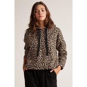 Kassidy Leopard Print Hoody Brown/Black