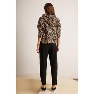 Velvet Kassidy Leopard Print Hoody Brown/Black