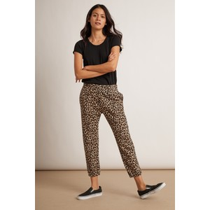 Bristol Leopard Print Trouser Brown/Black