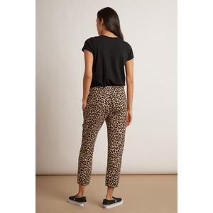 Velvet Bristol Leopard Print Trouser Brown/Black