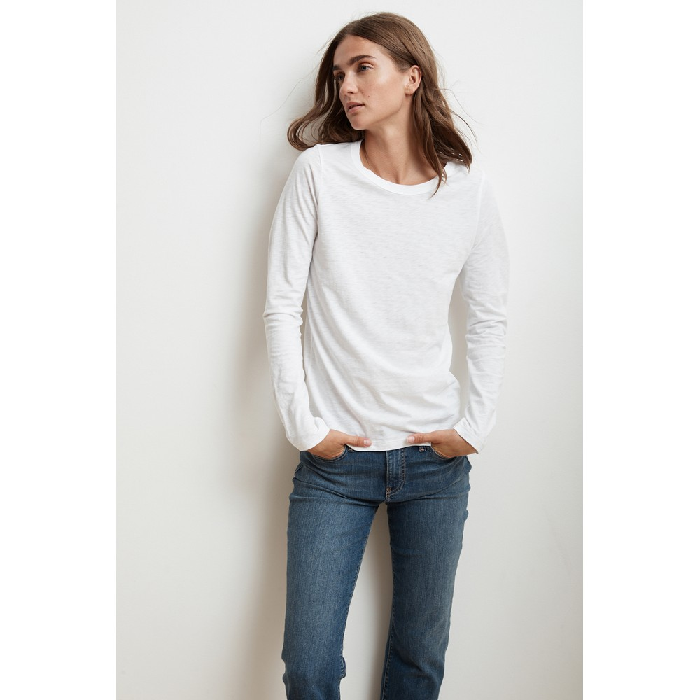 Velvet Liz Long Sleeve Tee White