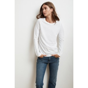 Liz Long Sleeve Tee White