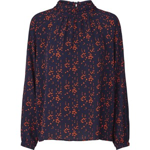 Honda Hearts Blouse Dark Navy/Red