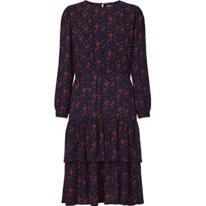 Johanne Hearts Dress Dark Navy/Red