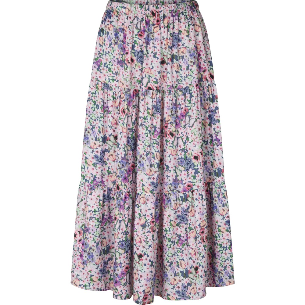 Lollys Laundry Morning Floral Midi Skirt Pink/Multi