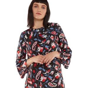 Essentiel Antwerp Rashmir Flounced Dress Black/Multi