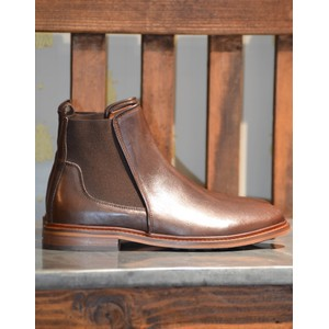 Wyatt Chelsea Boot-Leather Brown