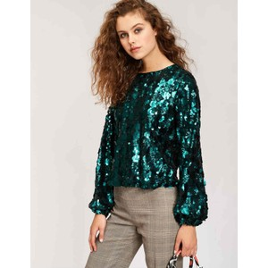 Thirteen Sequin Top Teal