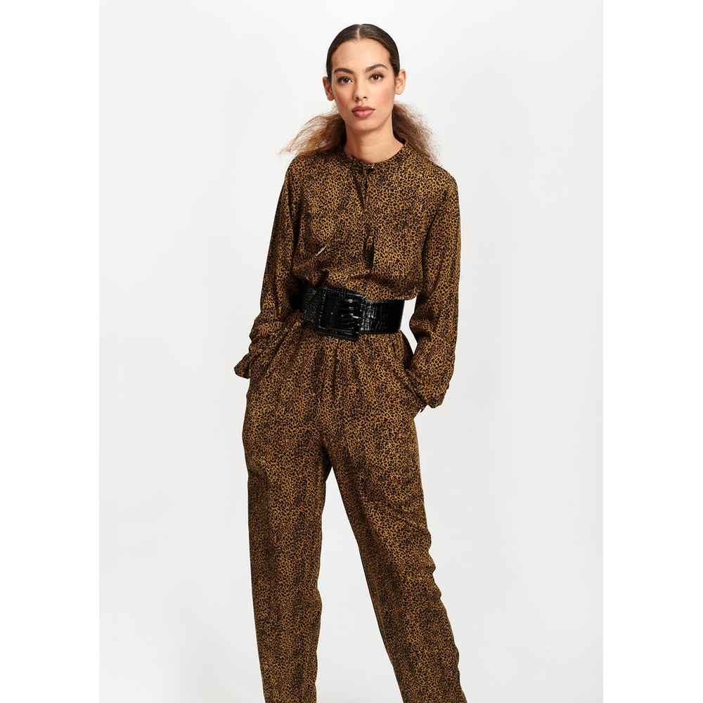 Essentiel Antwerp Tamboerijn Leopard Boilersuit Brown/Black