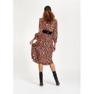 Essentiel Antwerp Tapir Leopard Dress with Belt Cream/Orange/Black