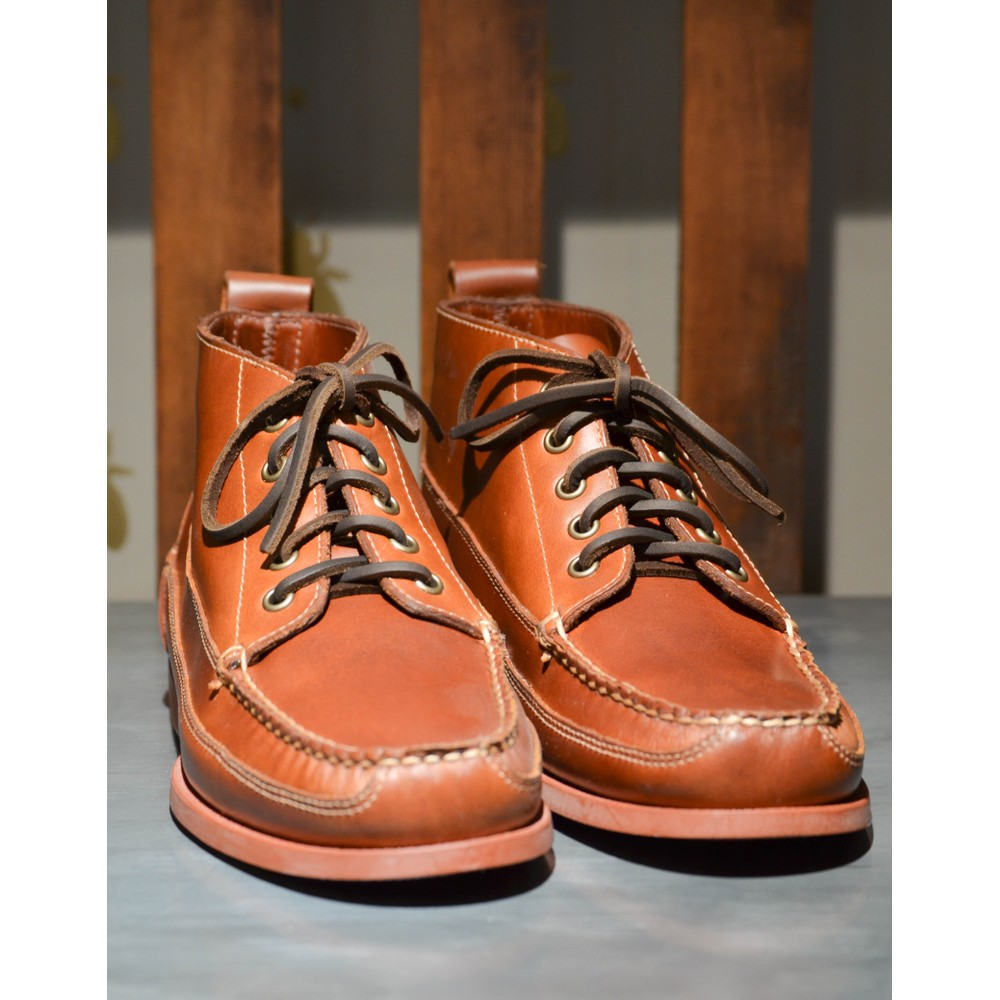 G.H.Bass & Co. Ranger Pull Up Shoe CAMP MOC Mid Brown