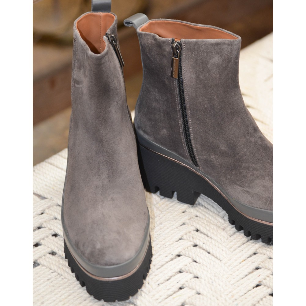 Pons Quintana Carmen-B Suede Boot Anthracite