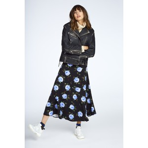 Tilde Roses Print Skirt Black/Blue