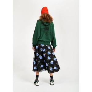 Essentiel Antwerp Tilde Roses Print Skirt Black/Blue