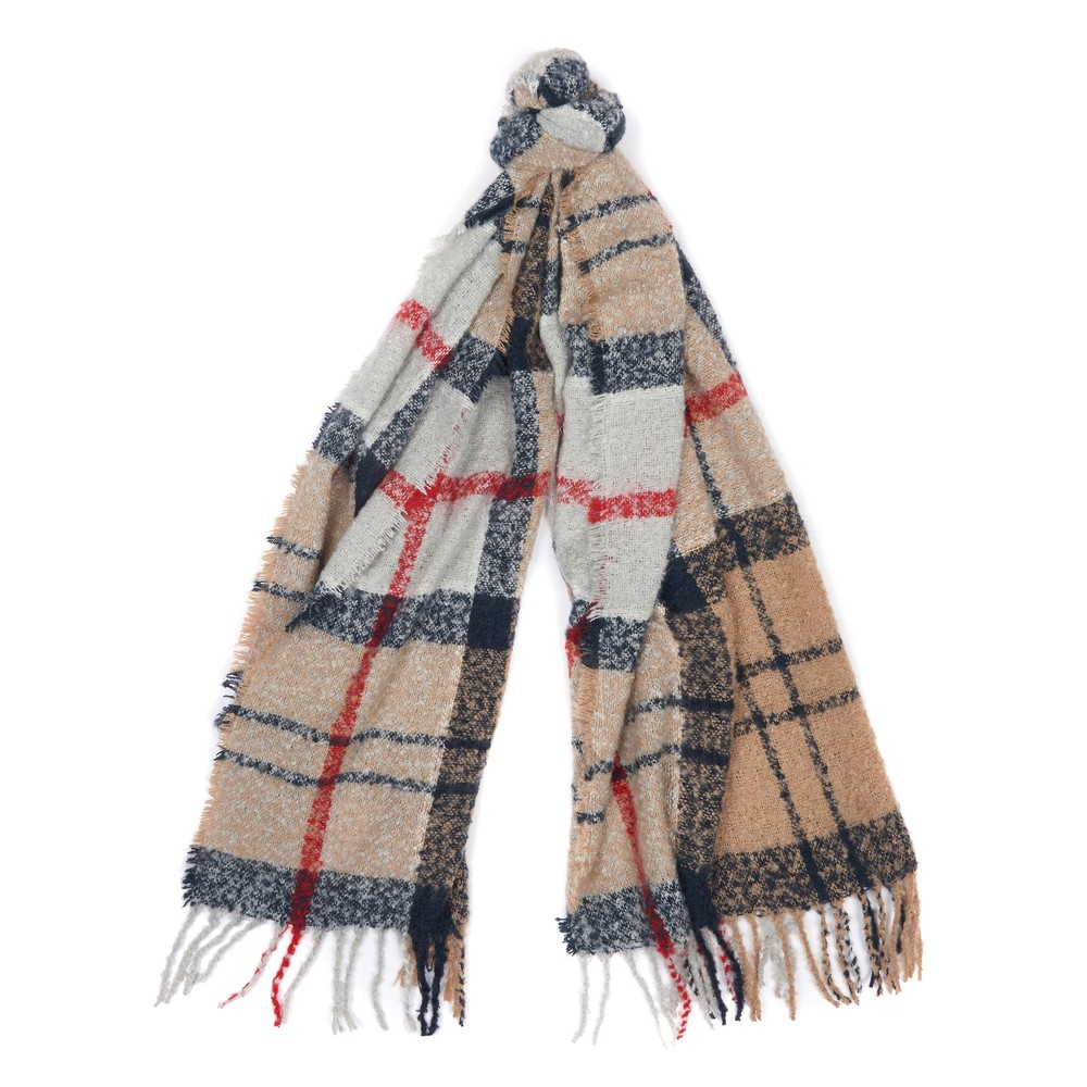 Barbour Boucle Scarf Caramel