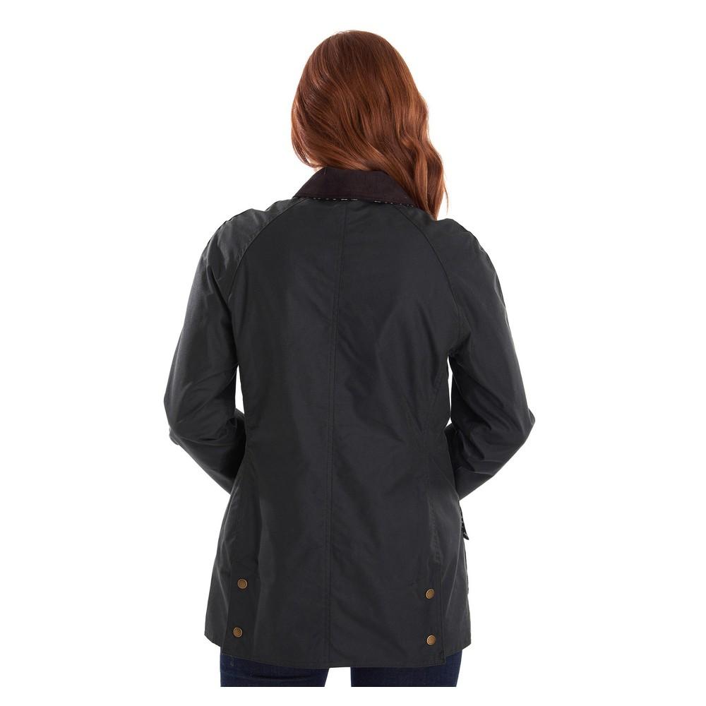 Barbour Eleanor Wax Jacket Sage/Barbour Print