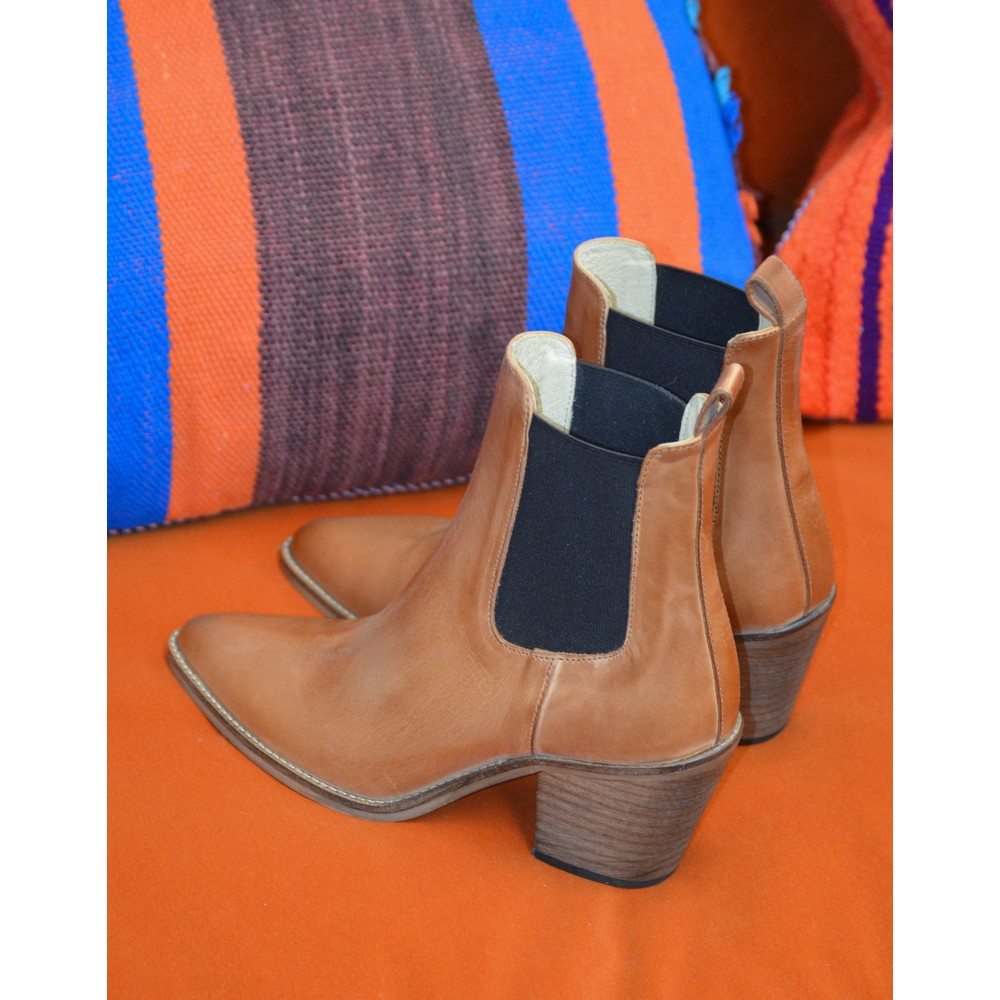 Ivylee Ankle Boot Dark Tan