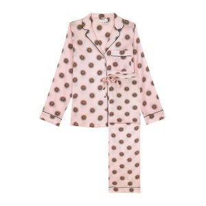Yolke Soleil  Classic Silk Pyjama Set Nude