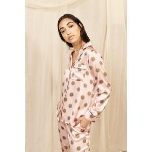 Soleil  Classic Silk Pyjama Set Nude