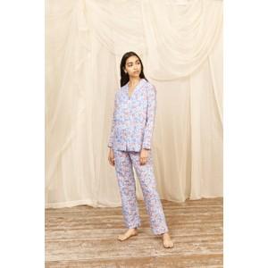 Yolke Nectarine Floral Pyjama Set Nectarine