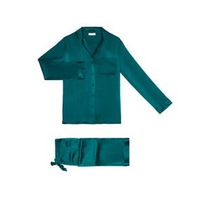 Yolke Jade Classic Silk Pyjama Set Jade