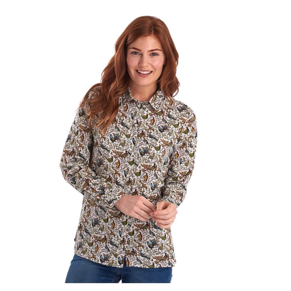 Barbour Eleanor Shirt Cloud Game Bird Print
