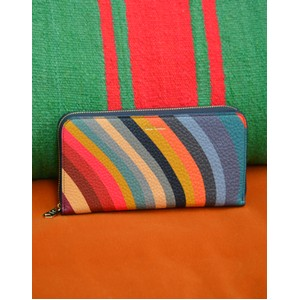 Paul Smith Accessories Large Zip Swirl Purse Multi