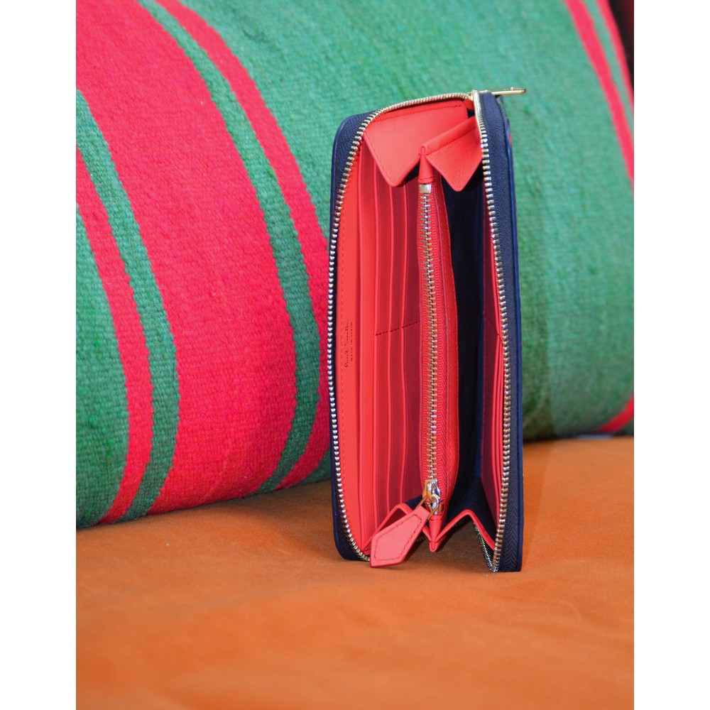 Paul Smith Accessories Large Zip Swirl Purse Multi