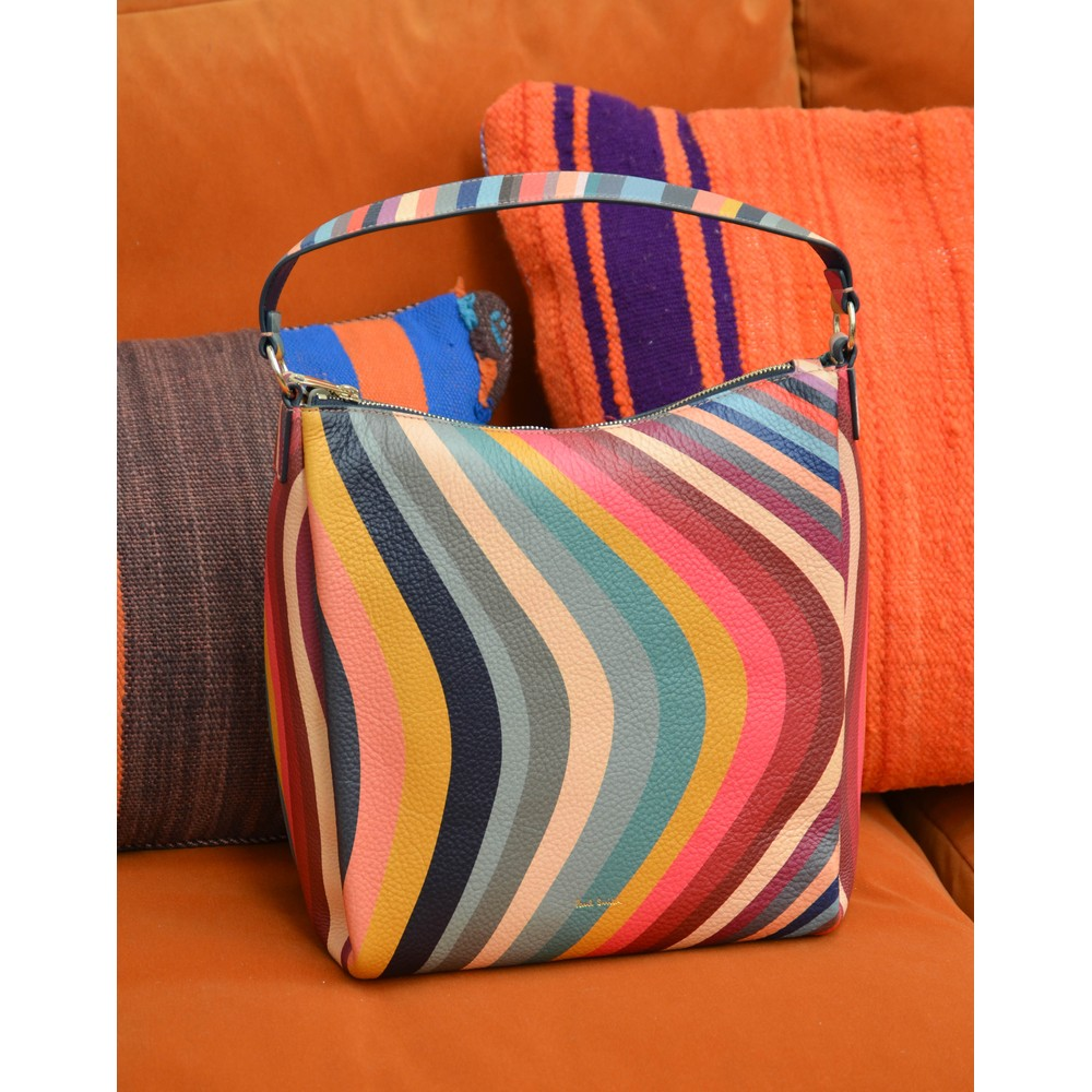 Paul Smith Accessories Swirl Mini Hobo Bag Multi