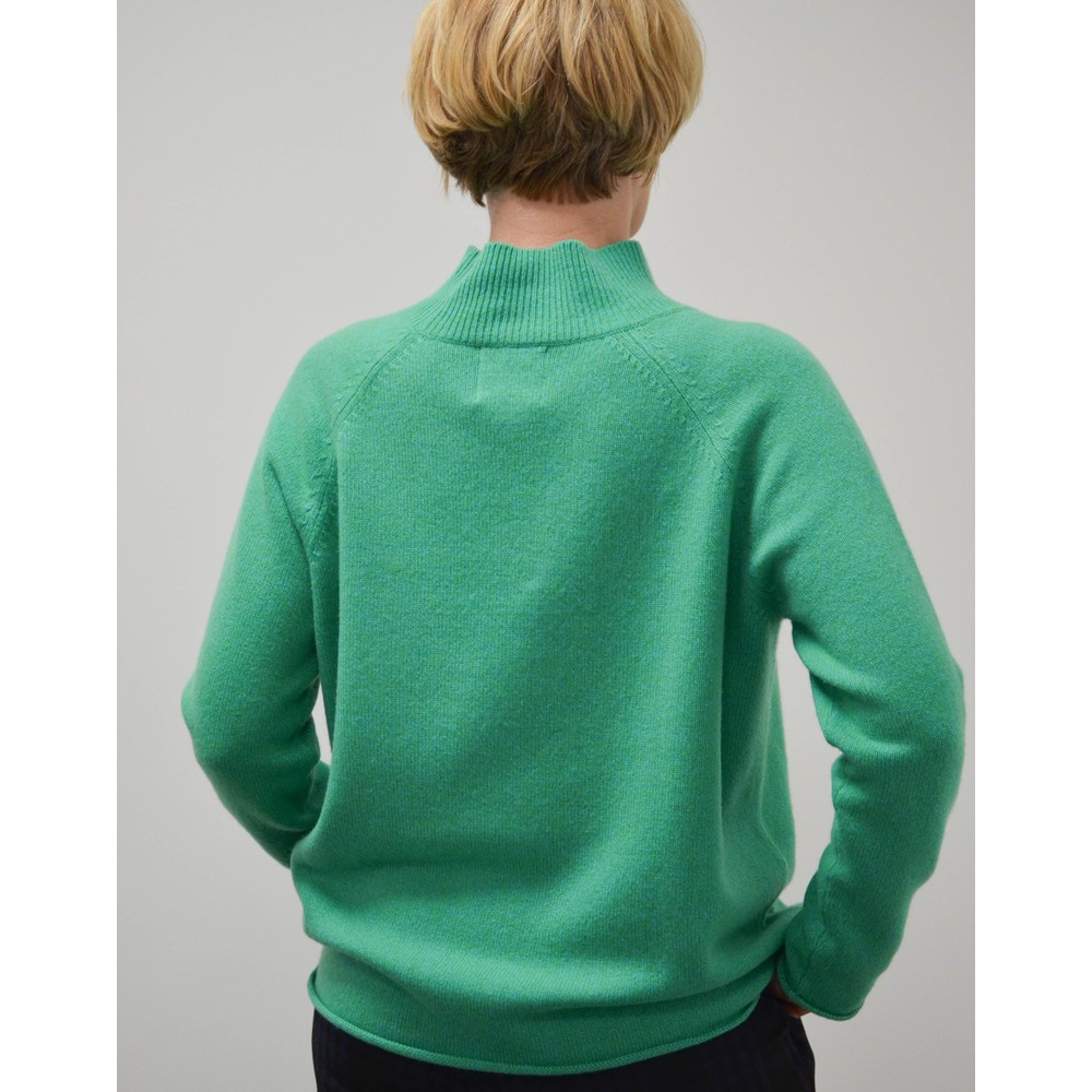 Jumper 1234 Winter Marl Knit Sweater Jade Green