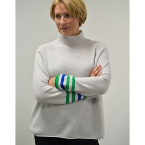 Jumper 1234 Secret Stripe Winter Sweater Aluminium/Blue/Green