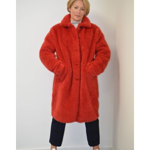 Teddy Bear Coat Raspberry