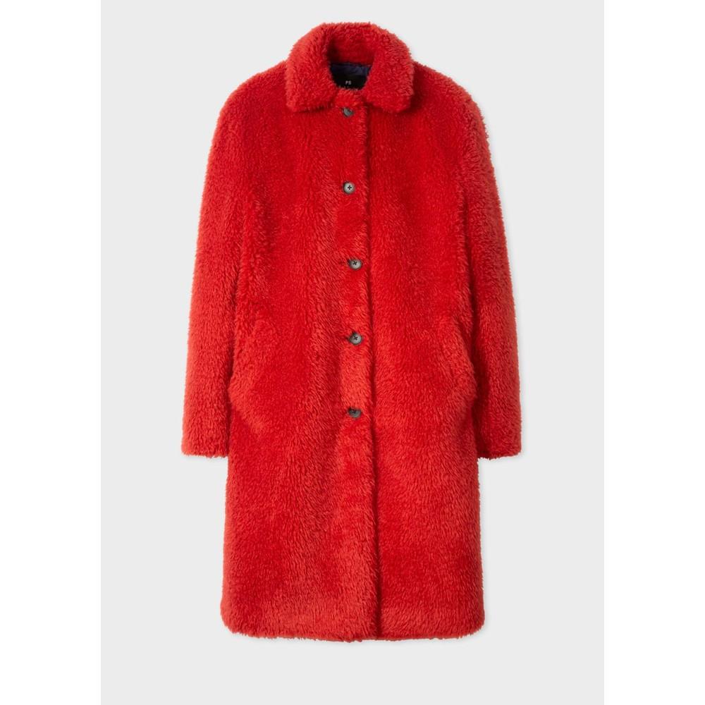 Paul Smith Womens Teddy Bear Coat Raspberry