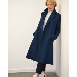 Paul Smith Womens Double Breasted Coat Indigo