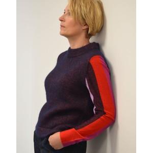 Striped Lurex Sleeves Knit Dark Navy/Multi