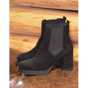 Roda Block Heel Boot-Suede Black