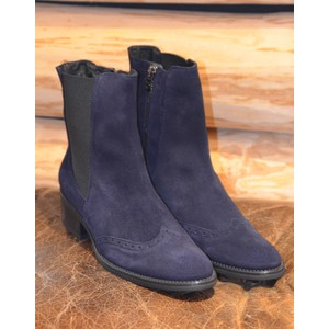Trieste Stretch Side Boots Navy