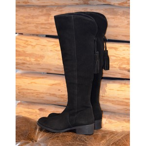 Tripoli Knee HighTassel Boot Black