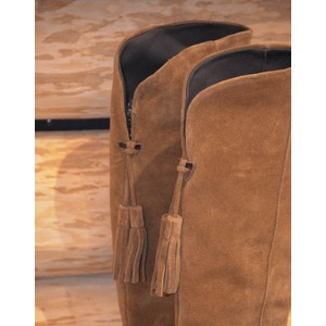 Toni Pons Tripoli Knee HighTassel Boot Tobacco