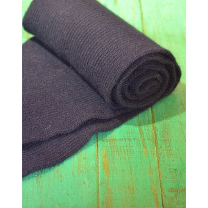 Rib Knit Long Scarf Midnight