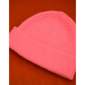 Le Bonnet Rib Knit Beanie in Bubblegum